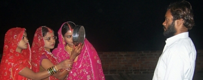 3 sisters in MP observe Karwa Chauth for their single husband