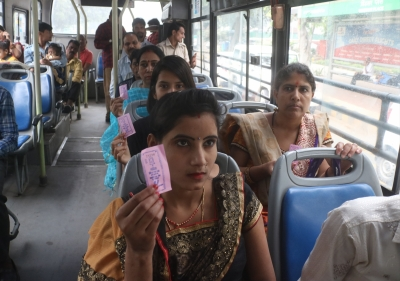Delhi women welcome DTC joyrides