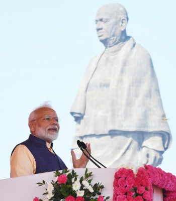 PM Modi pays tributes to Sardar Patel on his death anniversary