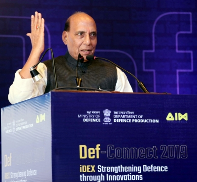 Rajnath hands over Rs 3 crore to two defence start-ups
