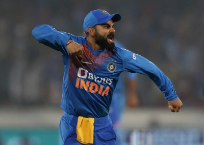 Ind-WI T20I: Kohli masterclass helps India chase down 207 (Lead)