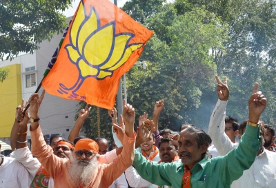 Bengal BJP workers celebrate after RS passes Citizenship Bill