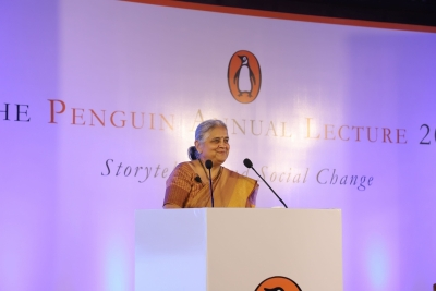 Sudha Murty enthrals at Penguin Annual Lecture 2019