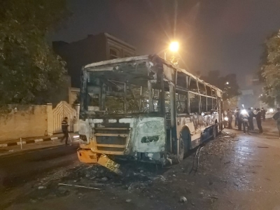 CAA: Delhi buses burnt, as mob ran amok targetting citizen (4th Ld)