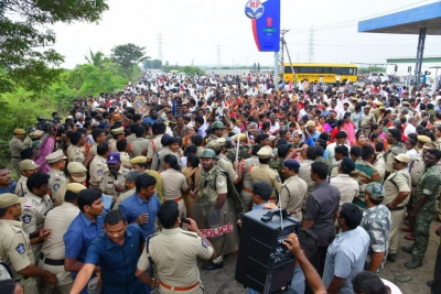Protests rock Amaravati ahead of AP Assembly session