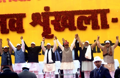 Bihar CM vows more human chains, oppn cries foul (Roundup)