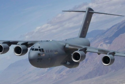 US Hercules planes arrive for President Trump's security