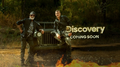 Discovery's Grylls shares Rajinikanth's TV debut first look (Lead)