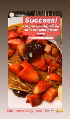Shahid makes pancakes for wife Mira