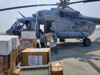 Over 184 tonnes of medical supplies flown across India