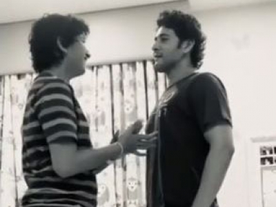 Lockdown diaries: Mahesh Babu plays 'who is taller' with son