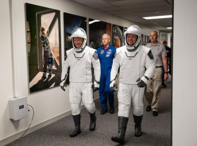 We're ready, say NASA crewmates on maiden SpaceX flight to ISS