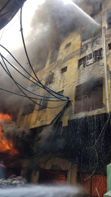 Major fire at shoe factory in Delhi