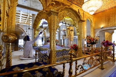 Delhi's Bangla Sahib Gurdwara being illuminated ahead of re-opening