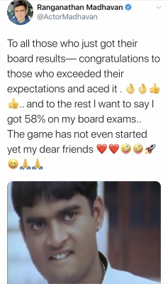 R. Madhavan shares he scored 58 per cent in board exams