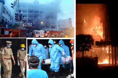 10 dead in Andhra Covid centre fire, govt sets up probe panel (2nd Lead)