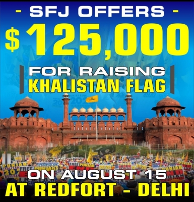 I-Day alert as SFJ offers $125K for Khalistan flag at Red Fort (IANS Exclusive)