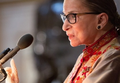 Late Justice Ginsburg lies in repose at US SC