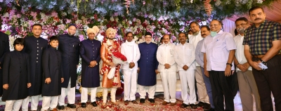 Telangana CM, ministers attend wedding of Owaisi's daughter