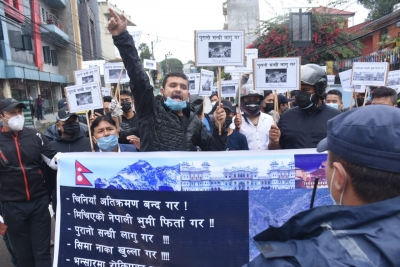 Protesters rally at Chinese Embassy in Kathmandu against encroachment (Ld)