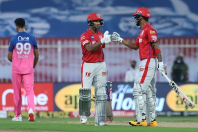 KXIP score 223/2 after Mayank, Rahul's epic opening stand