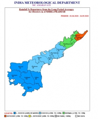 10 Andhra districts register excess rainfall in 4 months