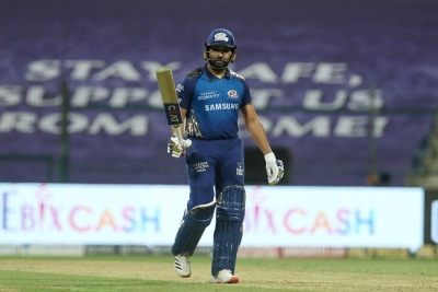Rohit & bowlers star in MI's big win over KXIP (Lead)