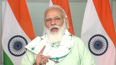 Gujarat was first state to adopt policy for solar power: Modi (Lead)