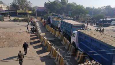 Tear gas shells used to disperse protesters at Singhu border