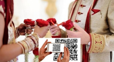Post Covid weddings: Madurai family sets example with QR code on invite