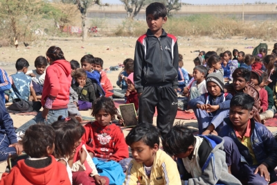 Once beggars, these kids aspire to join Army courtesy cop's school