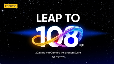 realme showcases 108MP sensor for upcoming 8 series